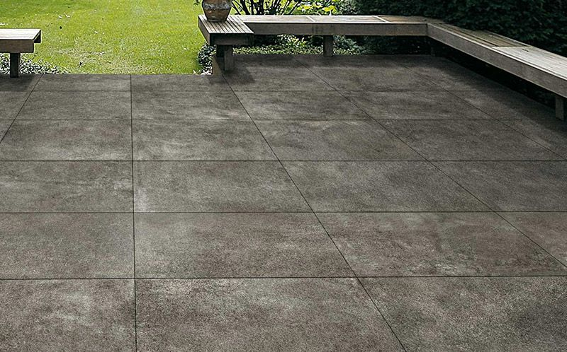 terrasse en pierre : dalle de grès