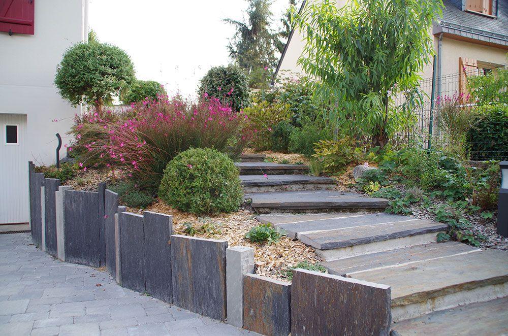Aménagement végétal : escalier aménagé
