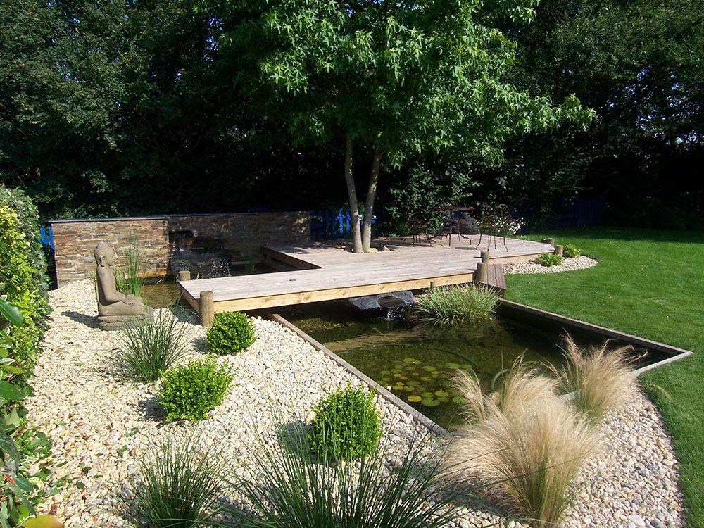 Fontaines et bassins décoratif avec terrasse