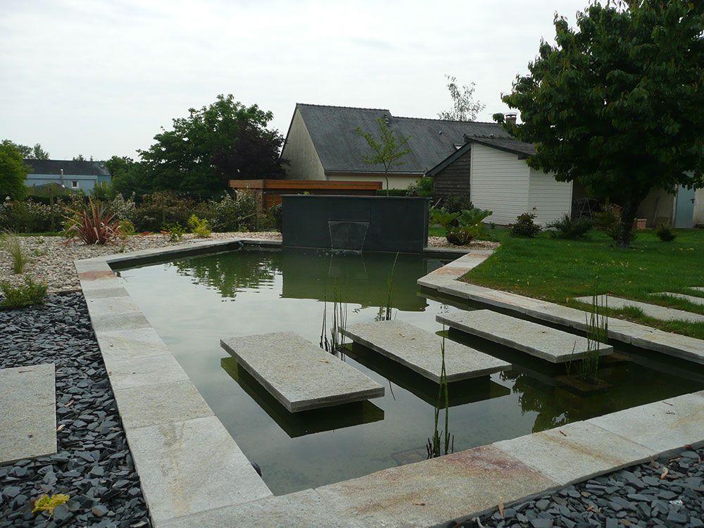 Fontaines et bassins décoratif : passage sur l'eau