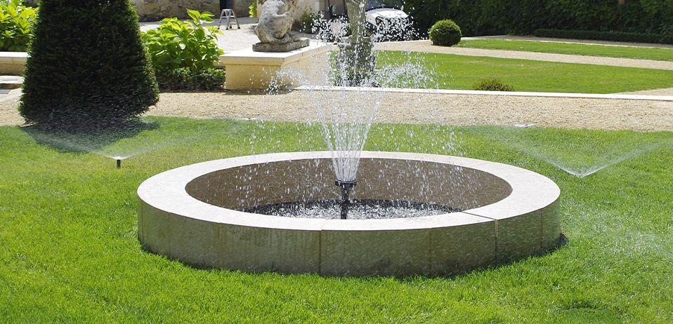 pose de fontaine de jardin